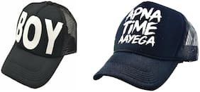 Alcove Mens/Women Half Mesh Cap Combo PACK OF 2