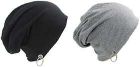 Alcove Pack Of 2 Cotton Slouchy Beanie With Ring For Men And Boys