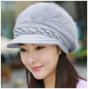 AlexVyan Wool Caps - Grey