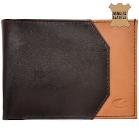 Allen Cooper Brown Genuine Leather Luxury Wallet For Men