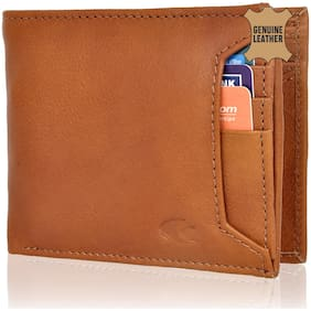 Allen Cooper Tan Genuine Leather Luxury Wallet For Men