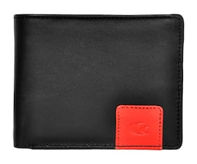 Allen Cooper Black Genuine Leather Luxury Wallet For Men