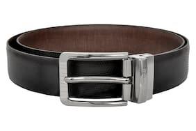 40284fe0c08 Allen Cooper Men Black and Brown Italian Leather Belt with classic  reversible buckle
