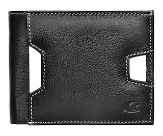 Allen Cooper Black Genuine Leather Luxury Wallet For Men