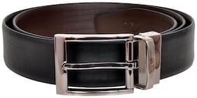 Allen Cooper Men Black & Brown Reversible Leather Belt (Size: 30 , Pack of 1 )