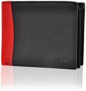 Allen Cooper Men Leather Bi-fold Wallet - Black