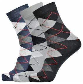 Allen Cooper Multi Cotton Calf length socks ( Pack of 3 )