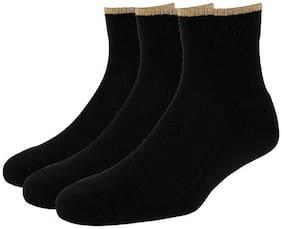 Allen Solly Black Cotton Crew length socks ( Pack of 3 )