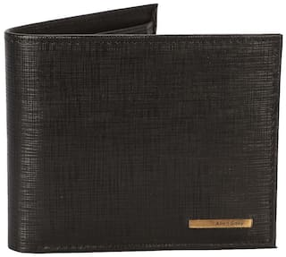 Allen Solly Men Black Leather Bi-Fold Wallet ( Pack of 1 )