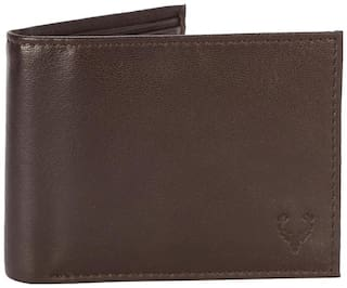 Allen Solly Men Brown Leather Bi-Fold Wallet ( Pack of 1 )