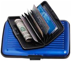 Aluma Men Aluminium Card holder - Blue