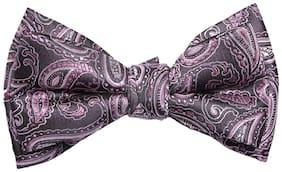 Alvaro Black And Pink Paisley Bow Tie For Men