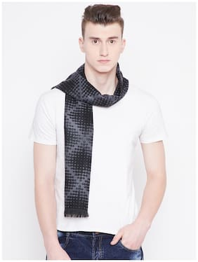 Alvaro Castagnino Black & Grey Colored Viscose Muffler For Men