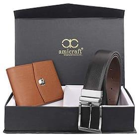 Amicraft Belt & Wallet Gift Set For Men Combo