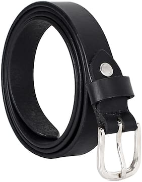 Amicraft Black Genuine Leather Women's Belt (Size 28-44 cut to fit belt)