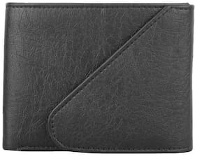 Amicraft Black Synthetic Leather Wallet For Men