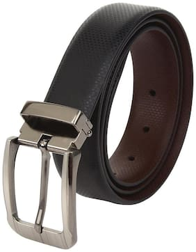amicraft Black & Brown Genuine Leather Belt for Men (Reversible)