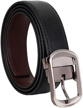 Amicraft Boy's Brown Black Casual & Formal Reversible Belt Size 28-44 Cut to fit belt