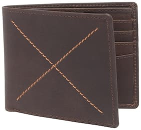 Amicraft Men Brown Leather Bi-Fold Wallet ( Pack of 1 )