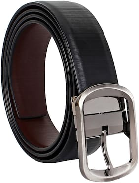 Amicraft Casual & Formal PU Leather Reversible Men's Belt Black/Brown (Size 28-44 Cut to fit men's Belt)