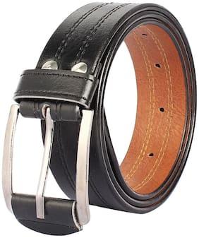 Amicraft Casual & Formal Black Men's Belt, Free Size (28-46)cut to fit men's belt
