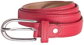 Amicraft Women Synthetic Leather Belt - Pink