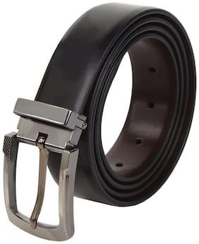 Amicraft Plain Casual & Formal Artificial Leather Reversible Men's Belt Black/Brown (Size 28-44 Cut to fit men's Belt)