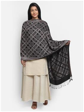 Anekaant Women Cotton Shawl - Black