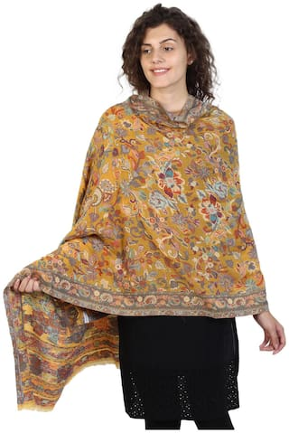 Anekaant Women Wool Floral - Yellow