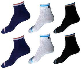 Antic Mens & Womens Solid Ankle Lenth Cotton Socks ( Pack Of 6 )