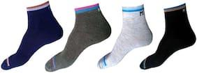 Antic Mens & Women Ankle  Lenth Cotton Socks ( Pack Of 4 )