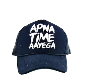 7057d7d55d5 Buy Apna Time Ayega Blue Netted Baseball Cap Online at Low Prices in ...