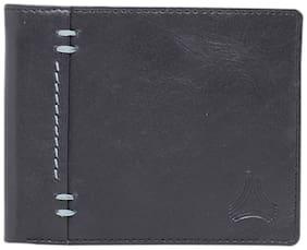 ARADO Men Black Leather Bi-Fold Wallet ( Pack of 1 )