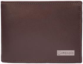 ARCADIO BROWNIE Bifold Plain Brown Leather Wallet - ARW1002BR