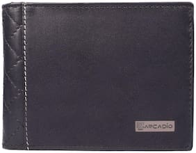 ARCADIO - DIAMOND CRUSH Bifold Diamond Stich Leather Wallet