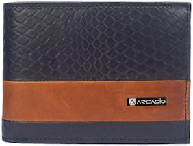 ARCADIO - DOUBLE IMPACT Bifold Dual Toned Leather Wallet
