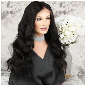 Artificial Hair Lace Wigs PrePlucked Bleached Knots Remy Long curvy