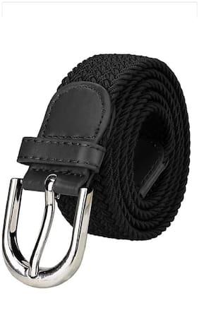 The Mini NEEDLE Unisex Canvas Belt - Black