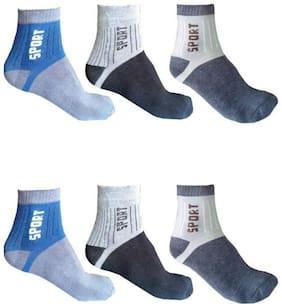 Ashriwad Men's Ankle Length Socks  (Pack of 6)