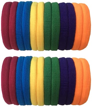 Atyourdoor Multi-color Hair Rubber Bands - 24 pcs