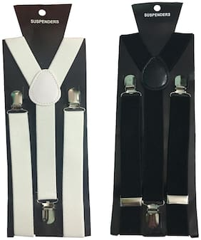 Atyourdoor Y- Back Suspenders(white & Black Color)