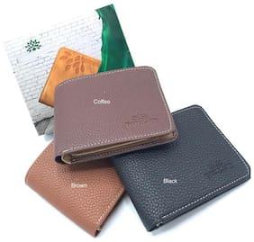 AZANIA Men Assorted Leather Bi-Fold Wallet ( Pack of 1 )