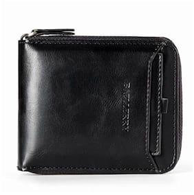 Baellerry Men Black Pu Bi-Fold Wallet ( Pack of 1 )
