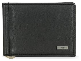 Baggit Men Black Synthetic leather Money Clip Wallet ( Pack of 1 )