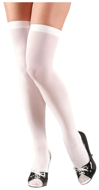 6c7e2fae7 Buy Bahucharaji Creation White Color Nylon Stocking For Women s(pack ...