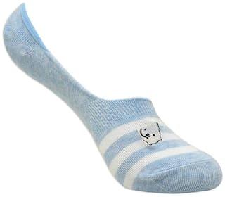 Balenzia Grey Cotton Crew length socks ( Pack of 1 )