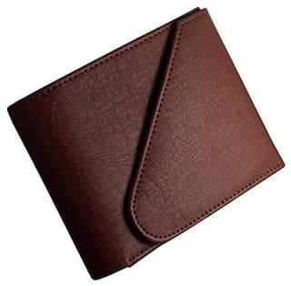 Battlestar Men Brown Leather Tri Fold Wallet ( Pack of 1 )