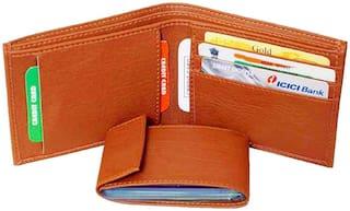 Battlestar Pure Leather Men' Slim Wallet With Card Holder & Coin Pocket