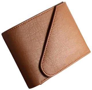 Battlestar Men Brown Leather Bi-Fold Wallet ( Pack of 1 )