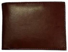Benicia Men Brown Leather Bi-Fold Wallet ( Pack of 1 )
